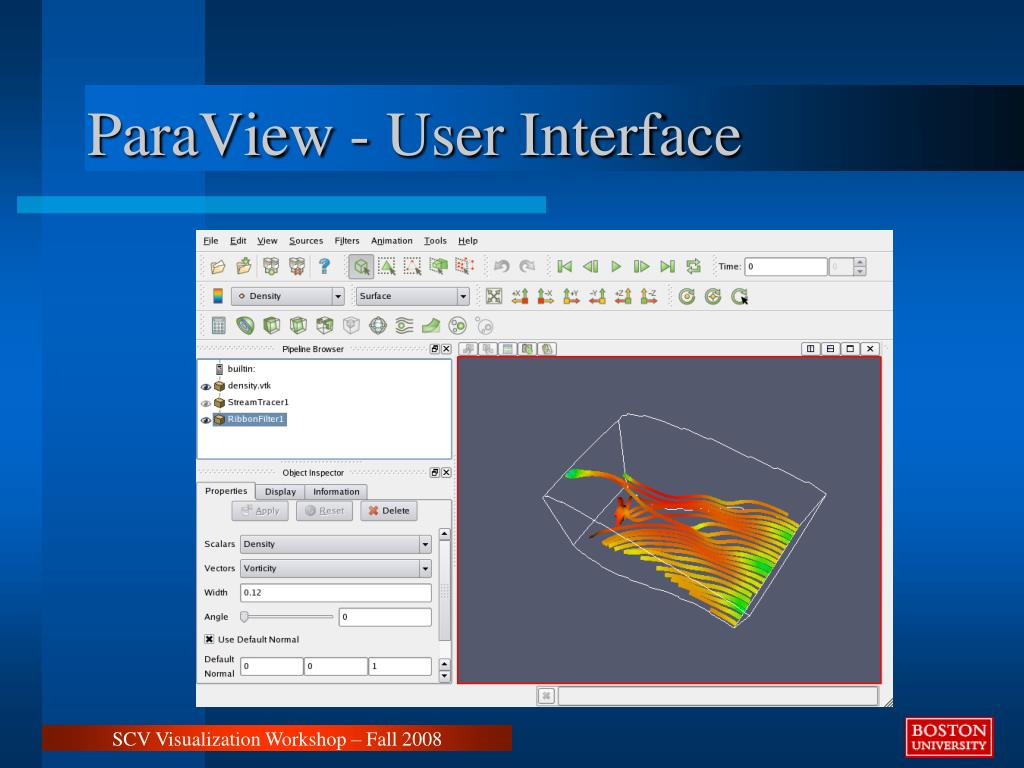 ParaView - User Interface