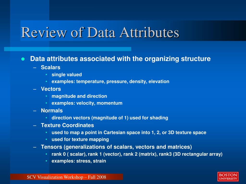 Review of Data Attributes