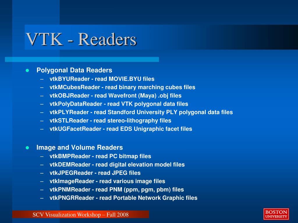 VTK - Readers