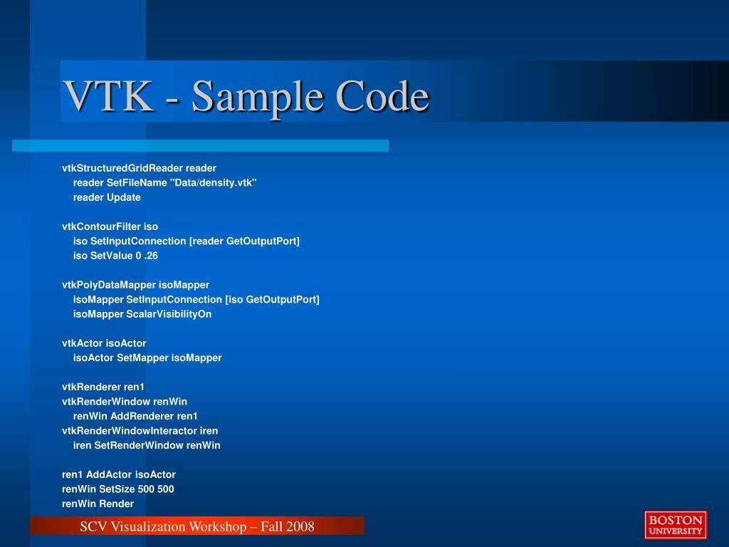 VTK - Sample Code