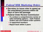 federal milk marketing orders