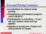 forward pricing contracts