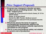 price support proposals
