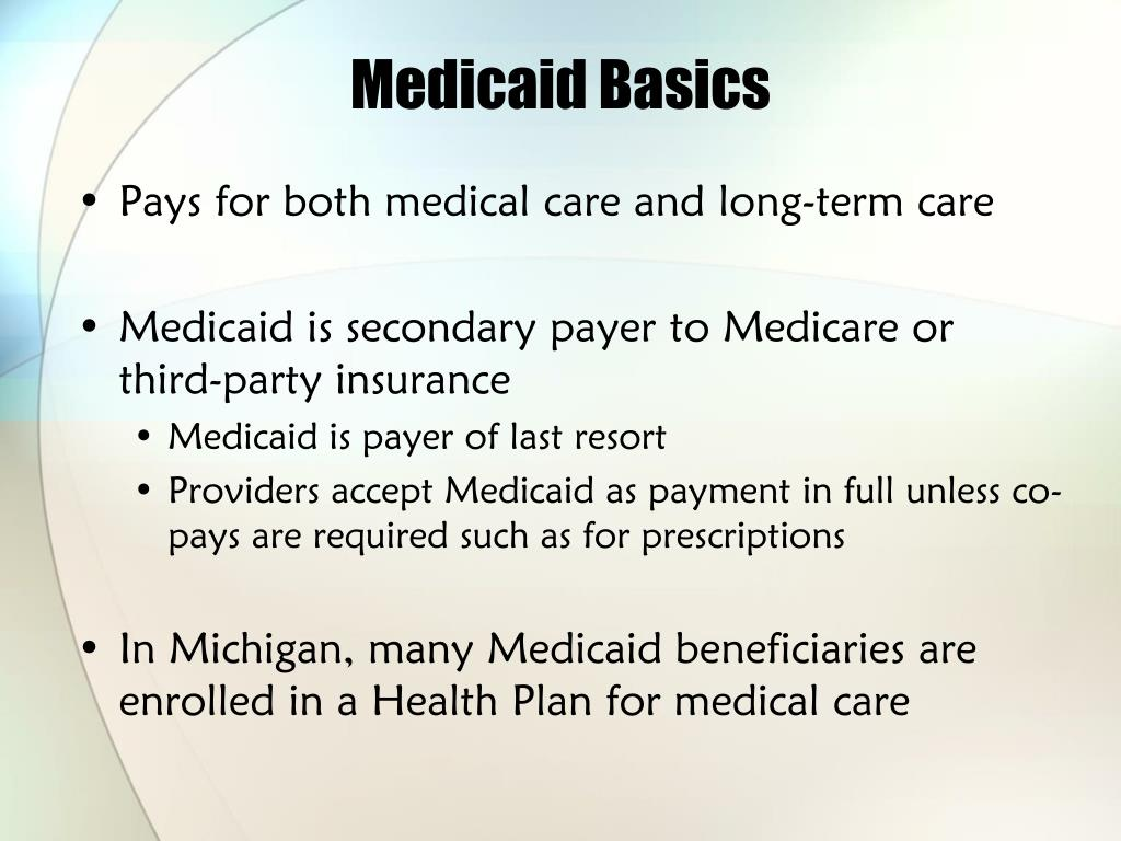 Medicaid Basics