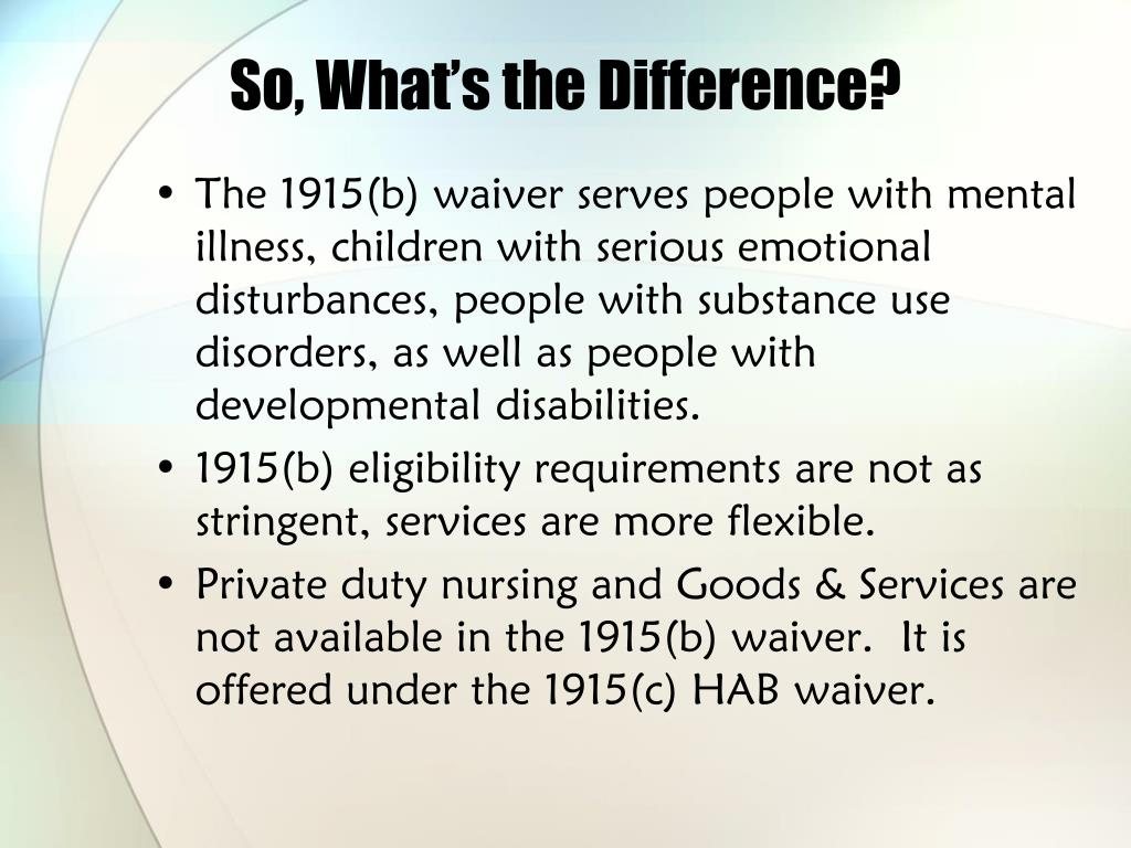 So, What's the Difference?