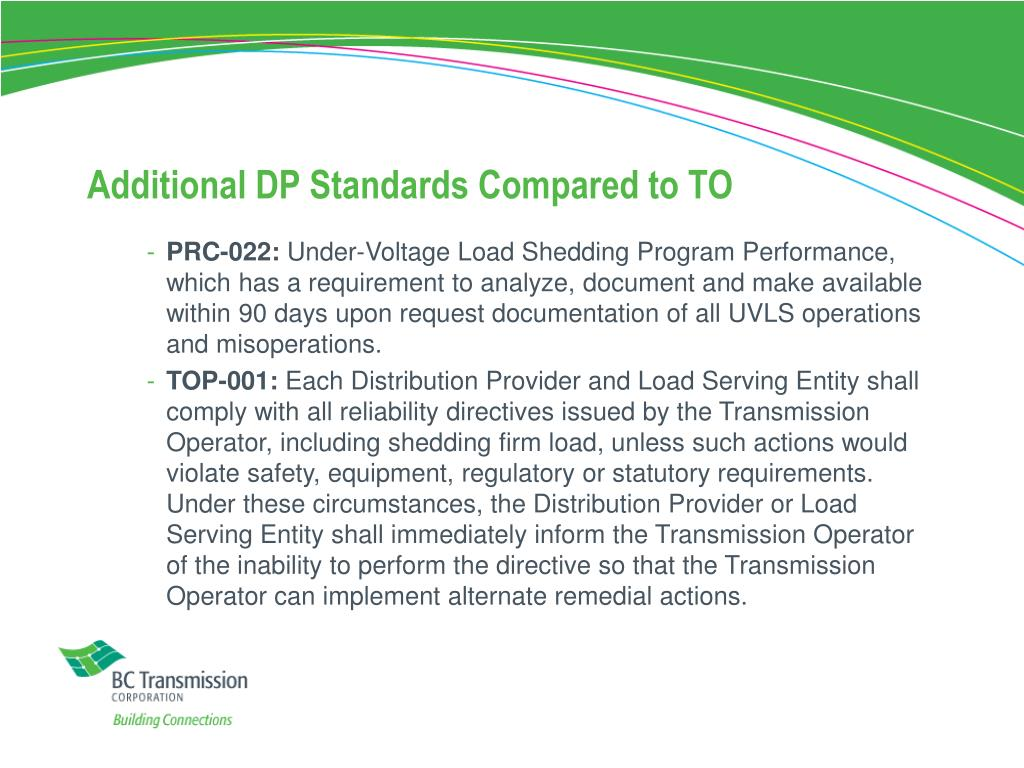 Additional DP Standards Compared to TO