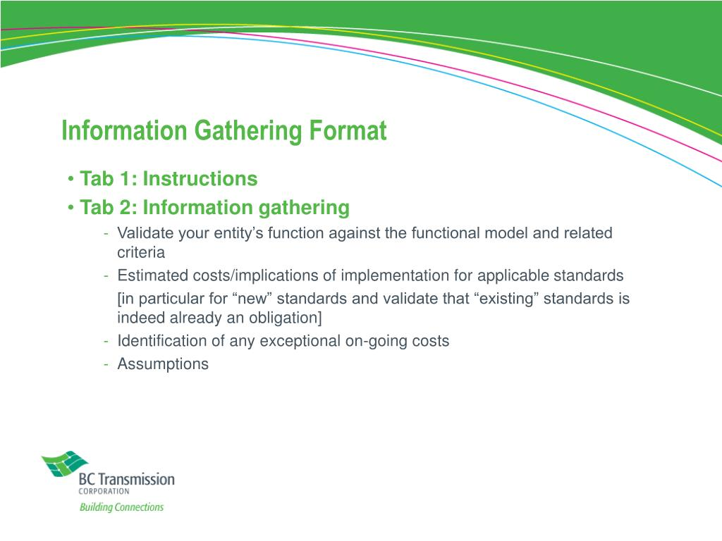 Information Gathering Format