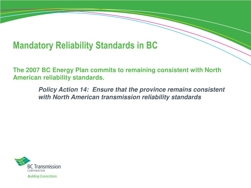 Mandatory Reliability Standards in BC
