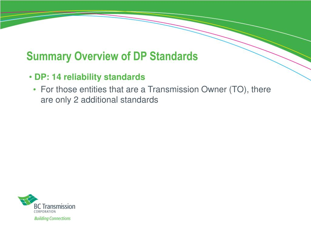 Summary Overview of DP Standards