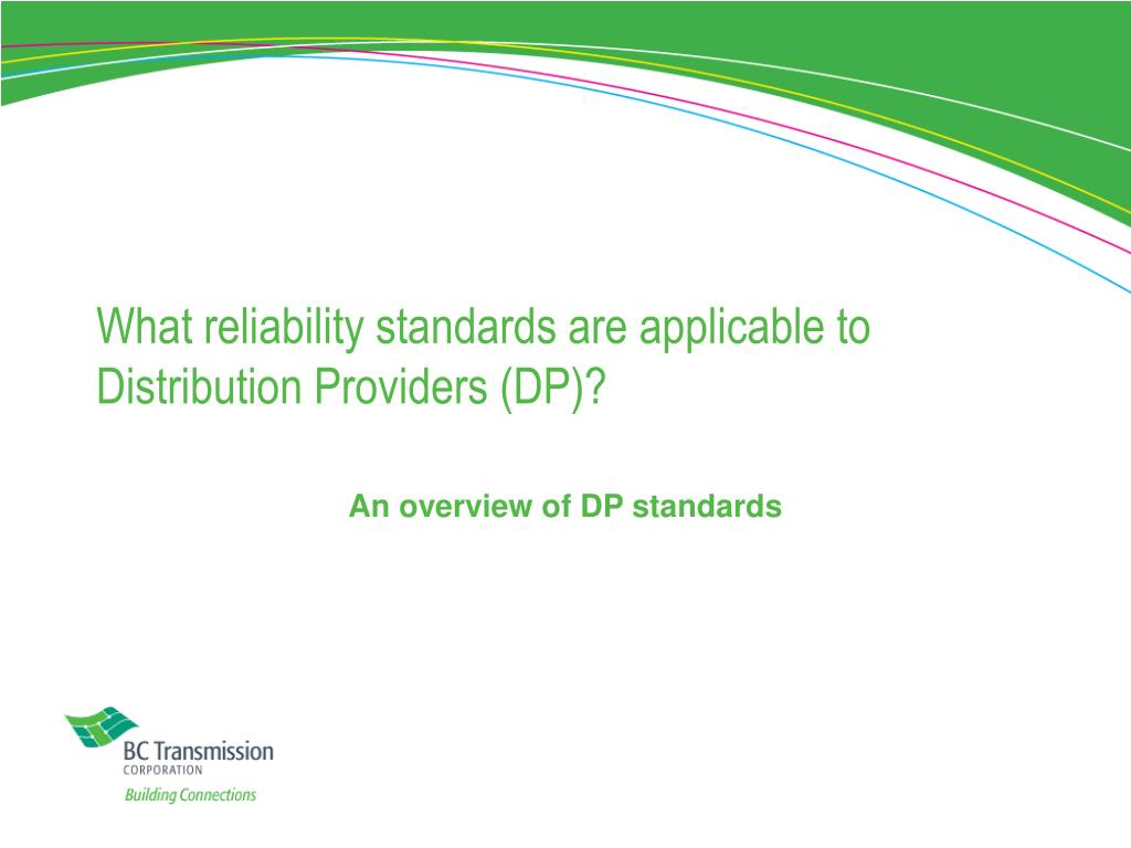 What reliability standards are applicable to Distribution Providers (DP)?
