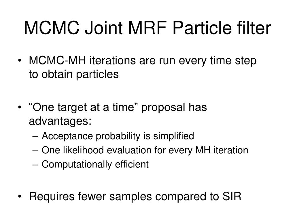 MCMC Joint MRF Particle filter