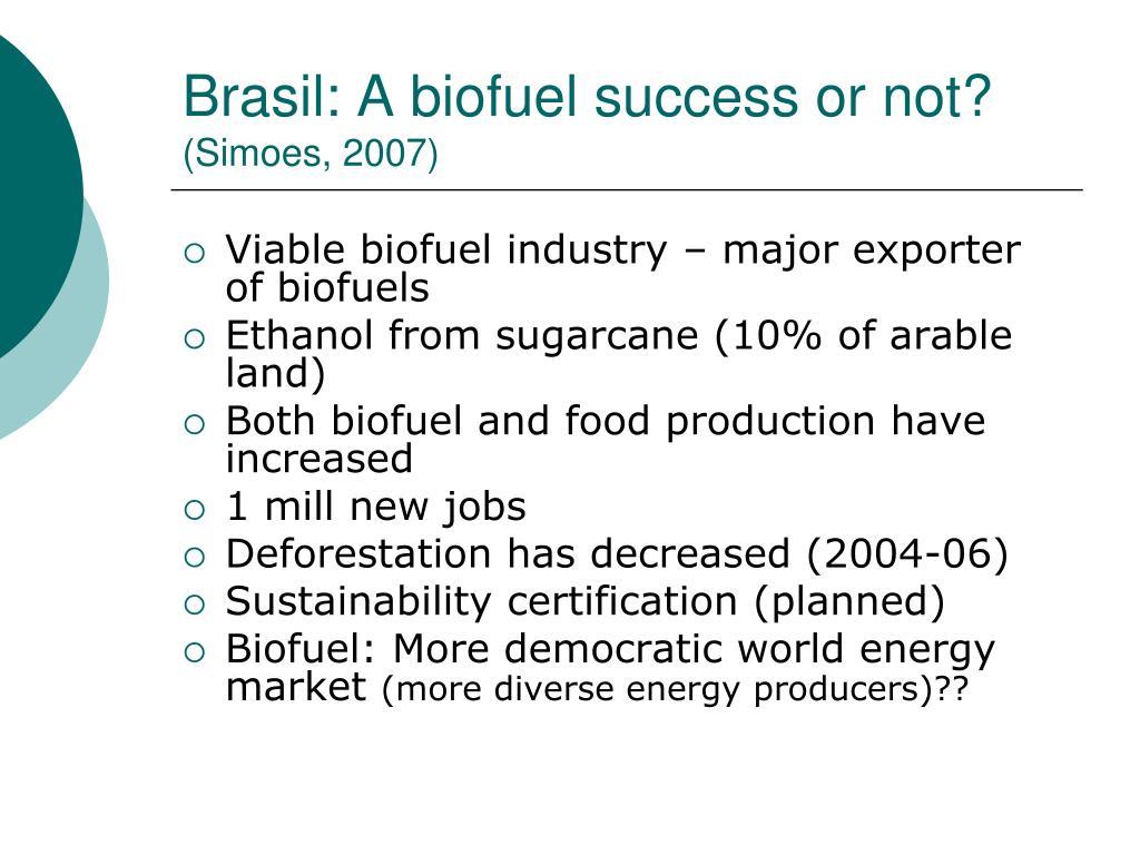 Brasil: A biofuel success or not?