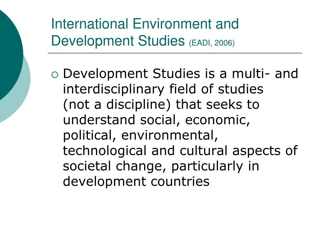 International Environment and Development Studies