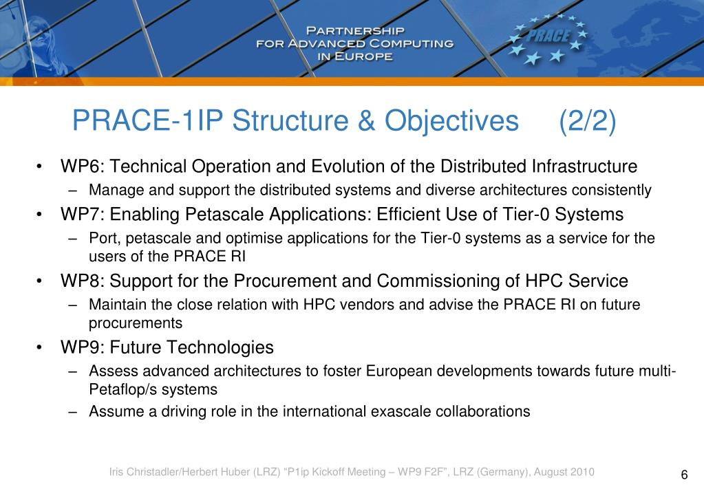 PRACE-1IP Structure & Objectives    (2/2)