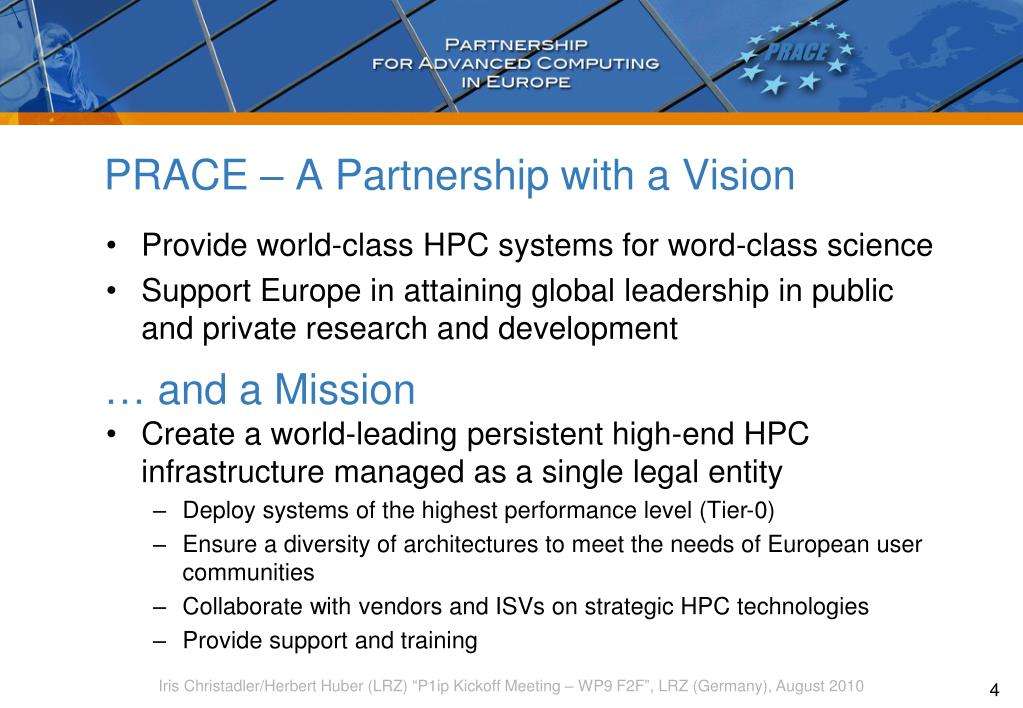 PRACE – A Partnership with a Vision