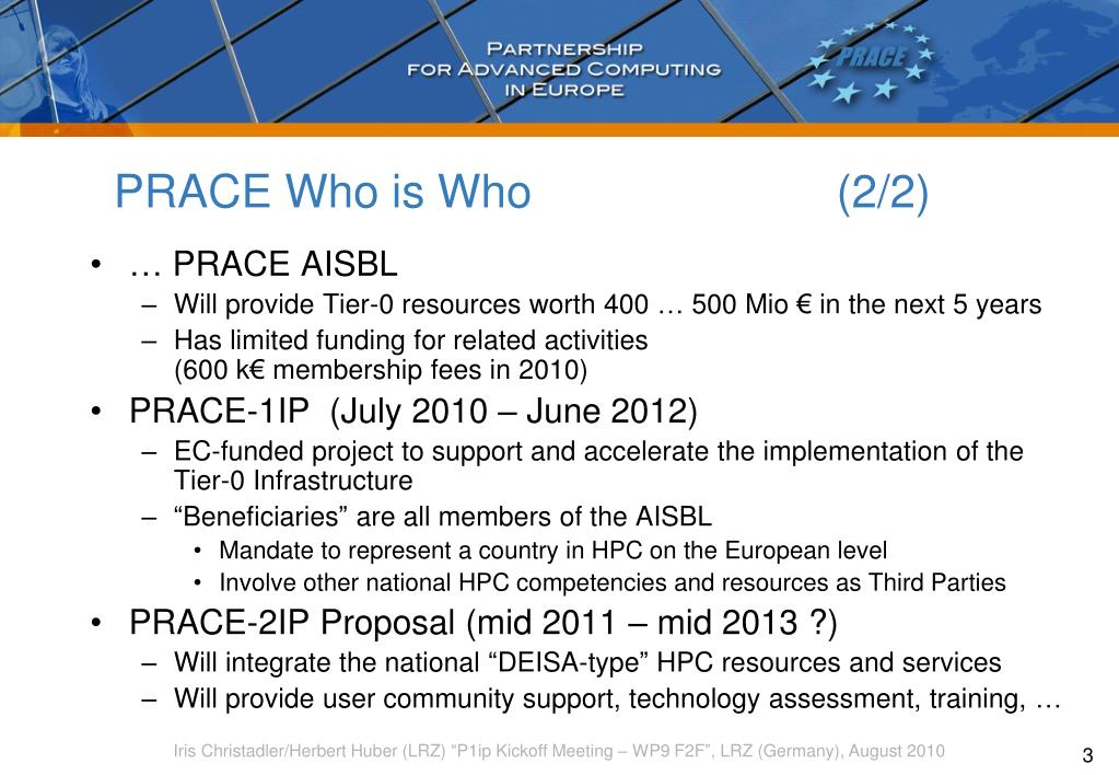 PRACE Who is Who(2/2)