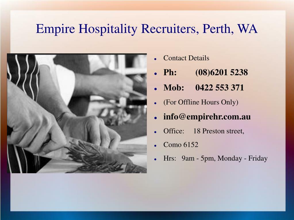 Empire Hospitality Recruiters, Perth, WA
