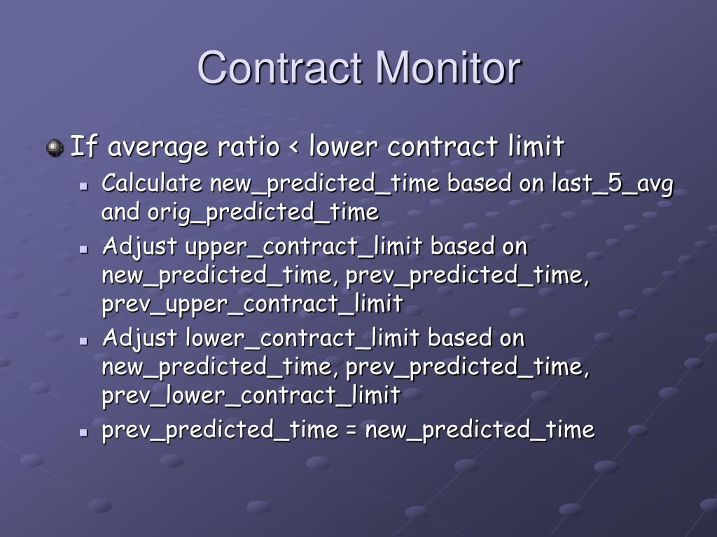 Contract Monitor