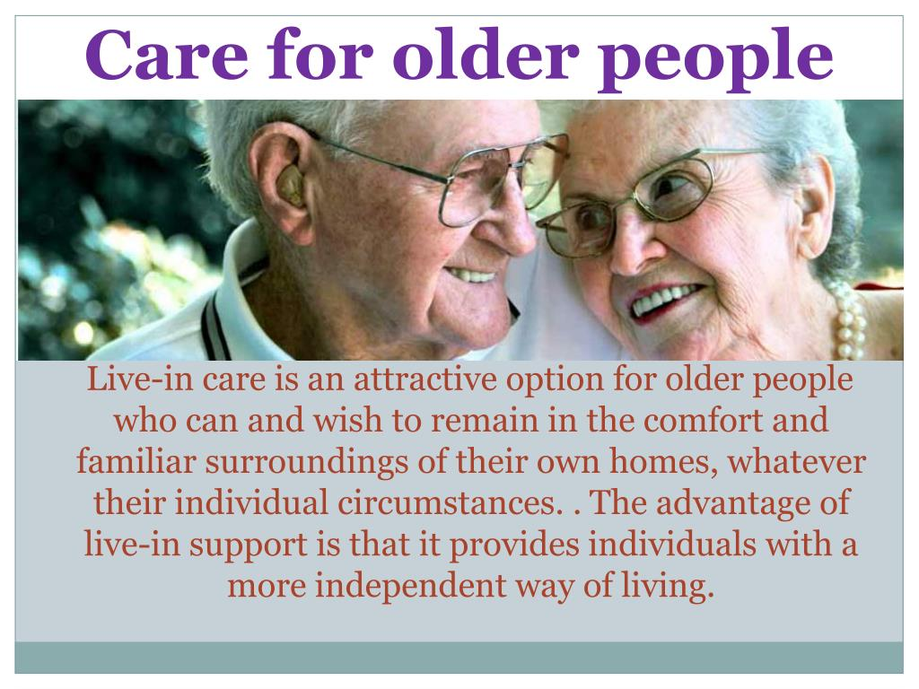 Care for older