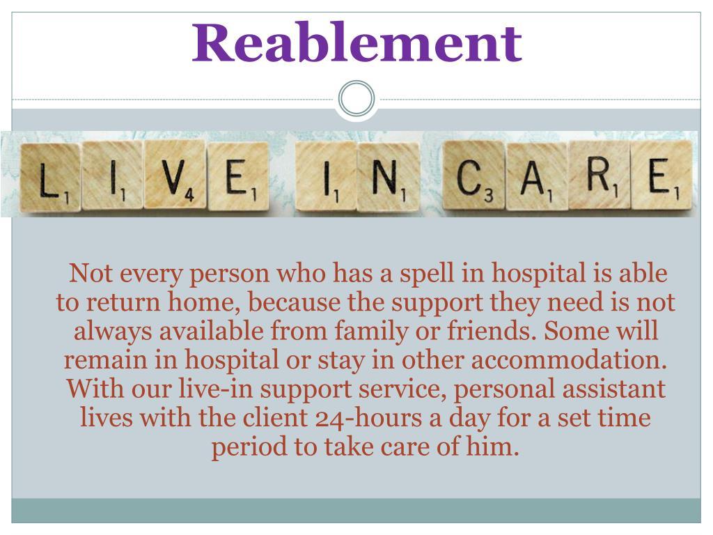 Reablement
