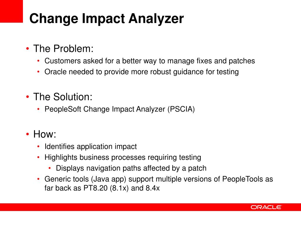 Change Impact Analyzer
