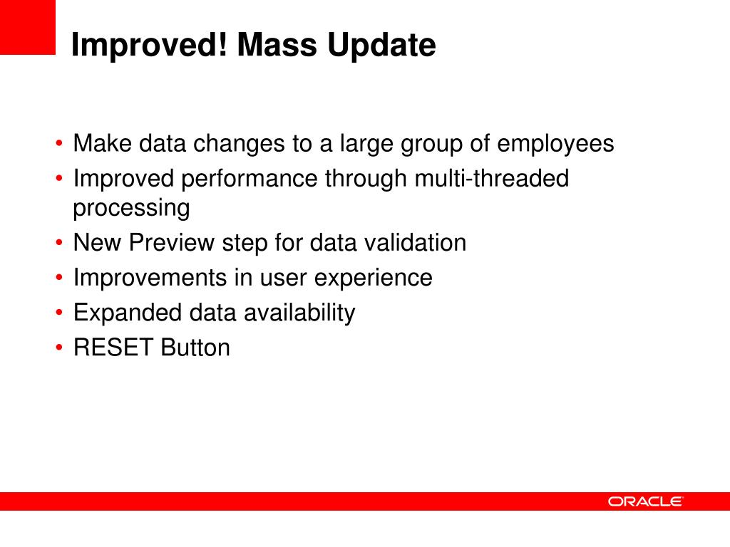 Improved! Mass Update