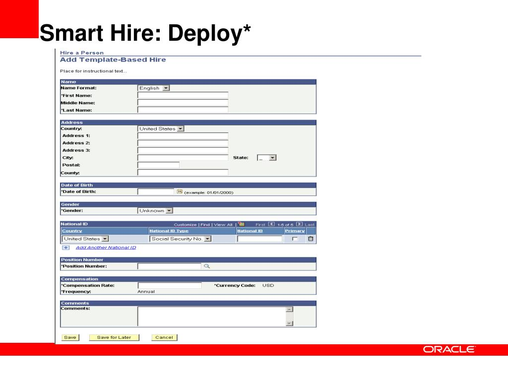 Smart Hire: Deploy*