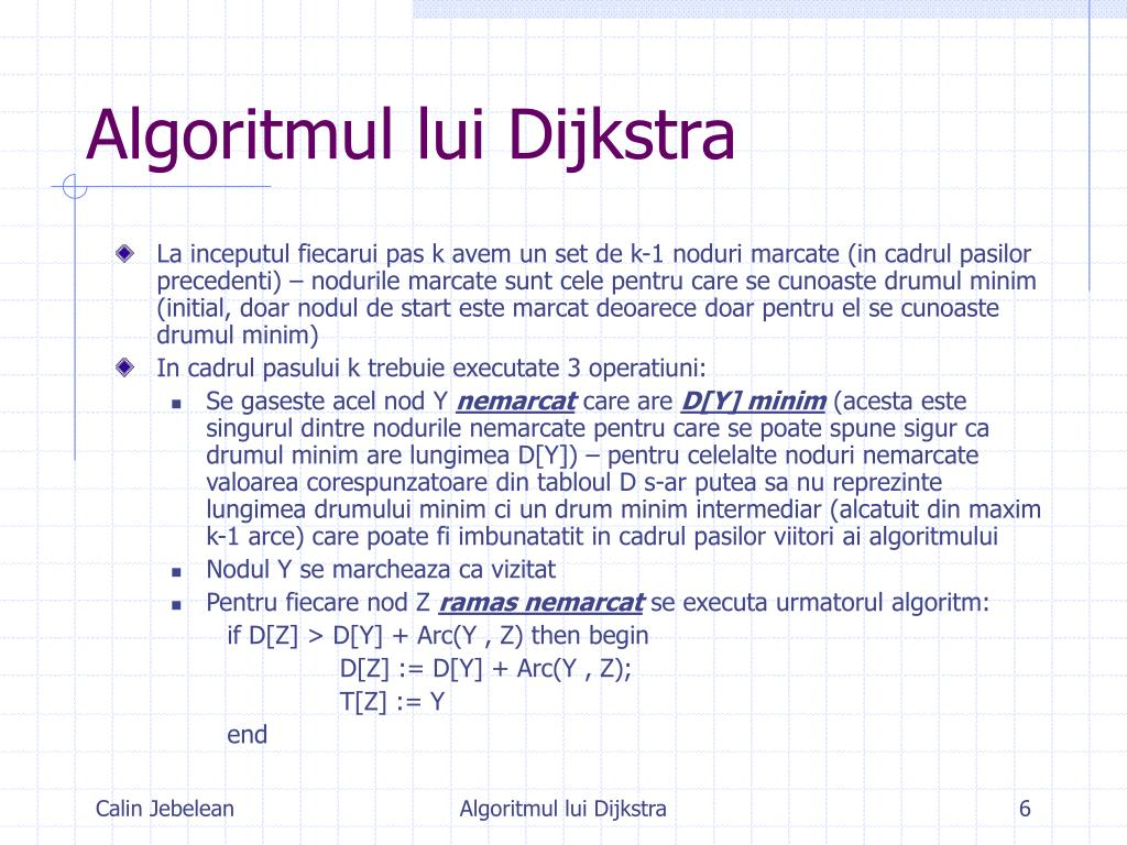 Algoritmul lui Dijkstra