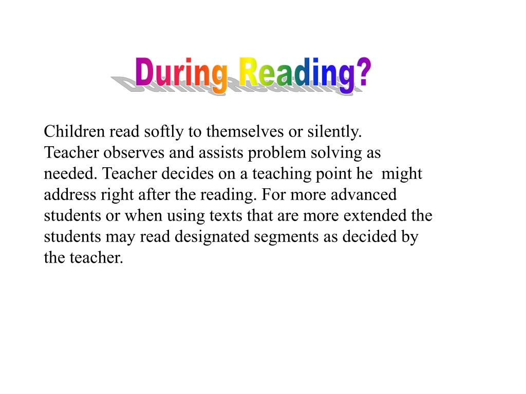 During Reading?