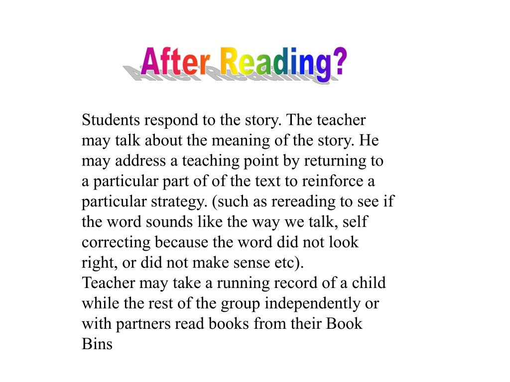After Reading?