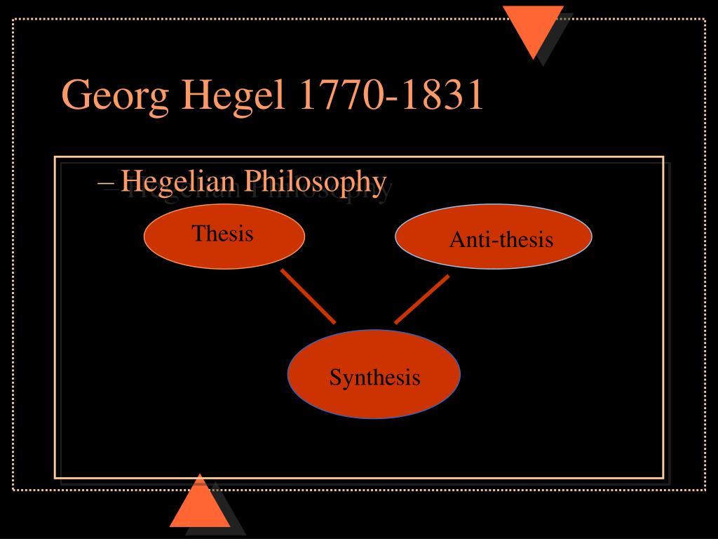 Georg Hegel 1770-1831