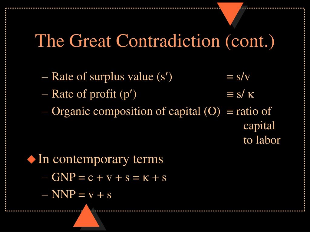 The Great Contradiction (cont.)