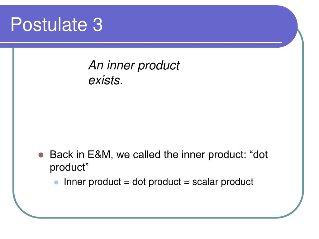 An inner product exists.