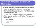 the three notations of quantum mechanics