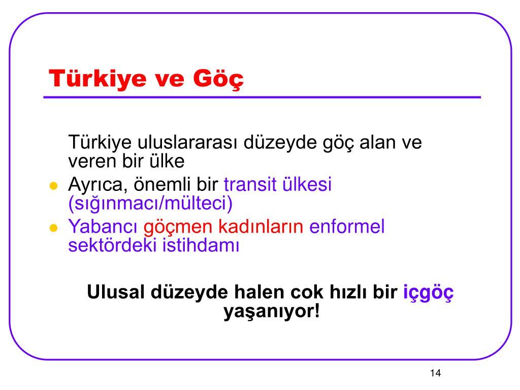 Türkiye ve Göç