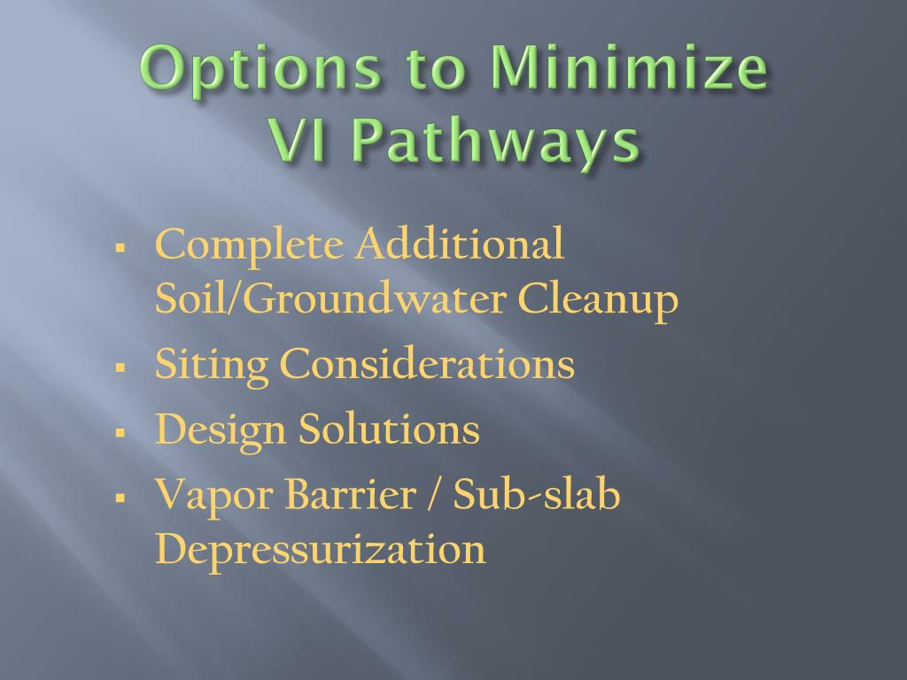Options to Minimize