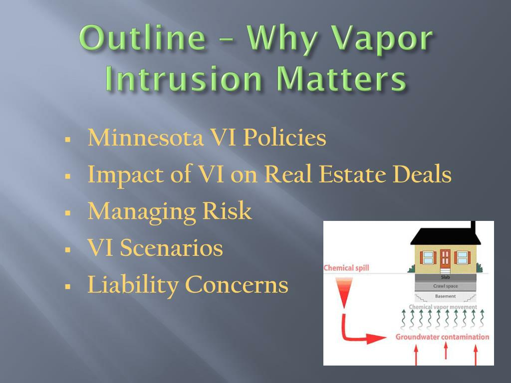 Outline – Why Vapor Intrusion Matters