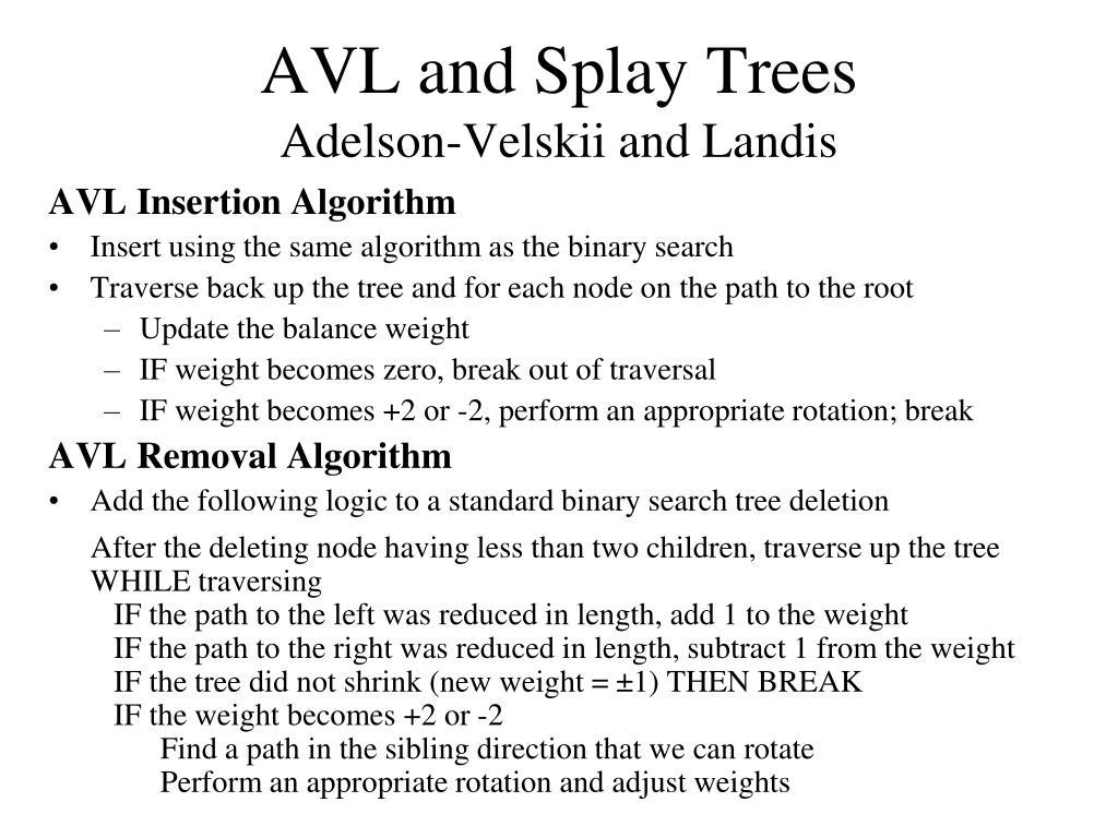 AVL and Splay Trees