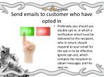 send emails to customer who have opted in
