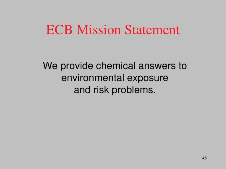 ECB Mission Statement