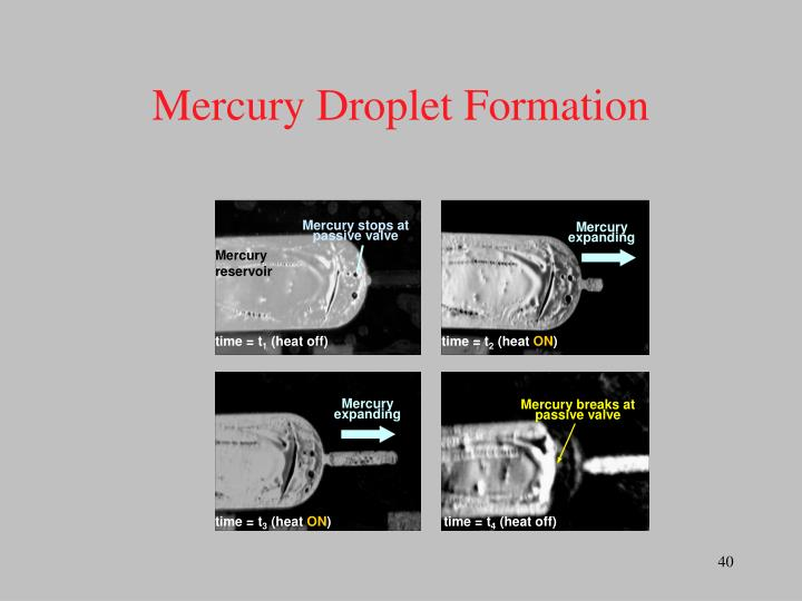 Mercury stops at passive valve