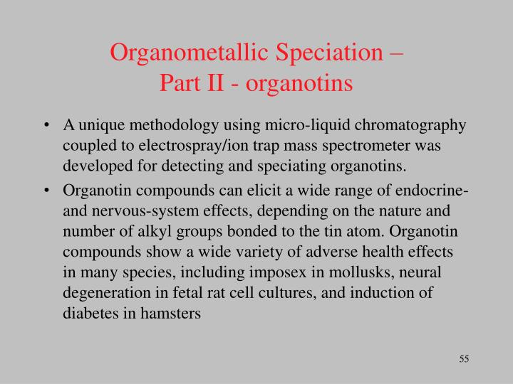 Organometallic Speciation –