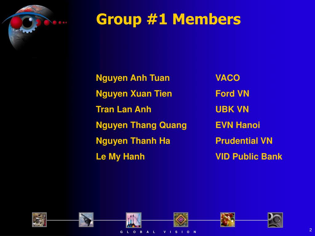 Group #1 Members