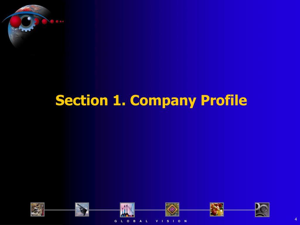 Section 1. Company Profile