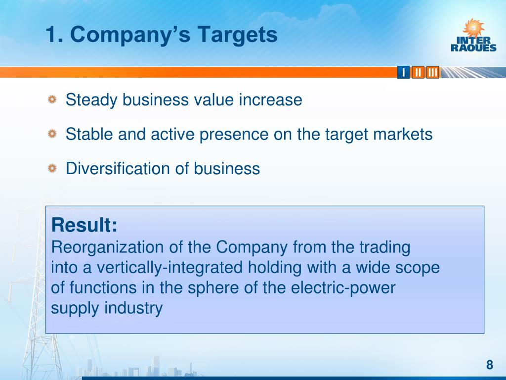 Steady business value increase