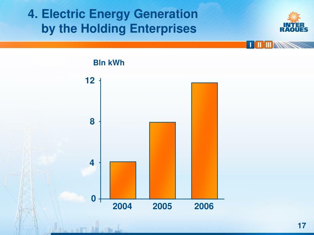 4. Electric Energy Generation