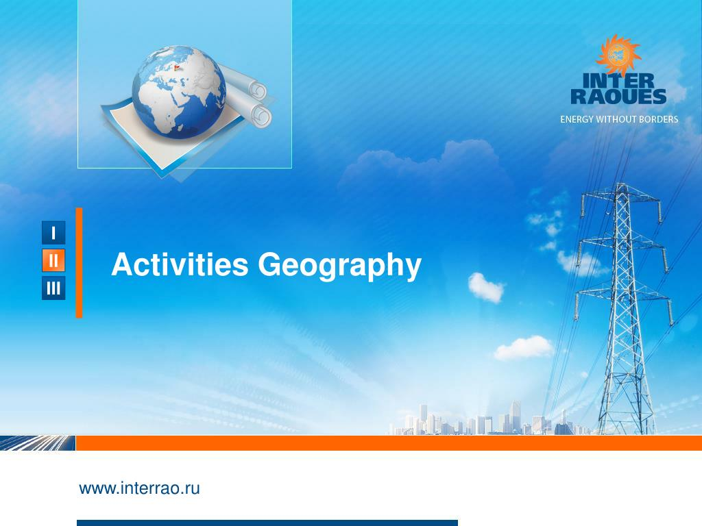 Activities Geography