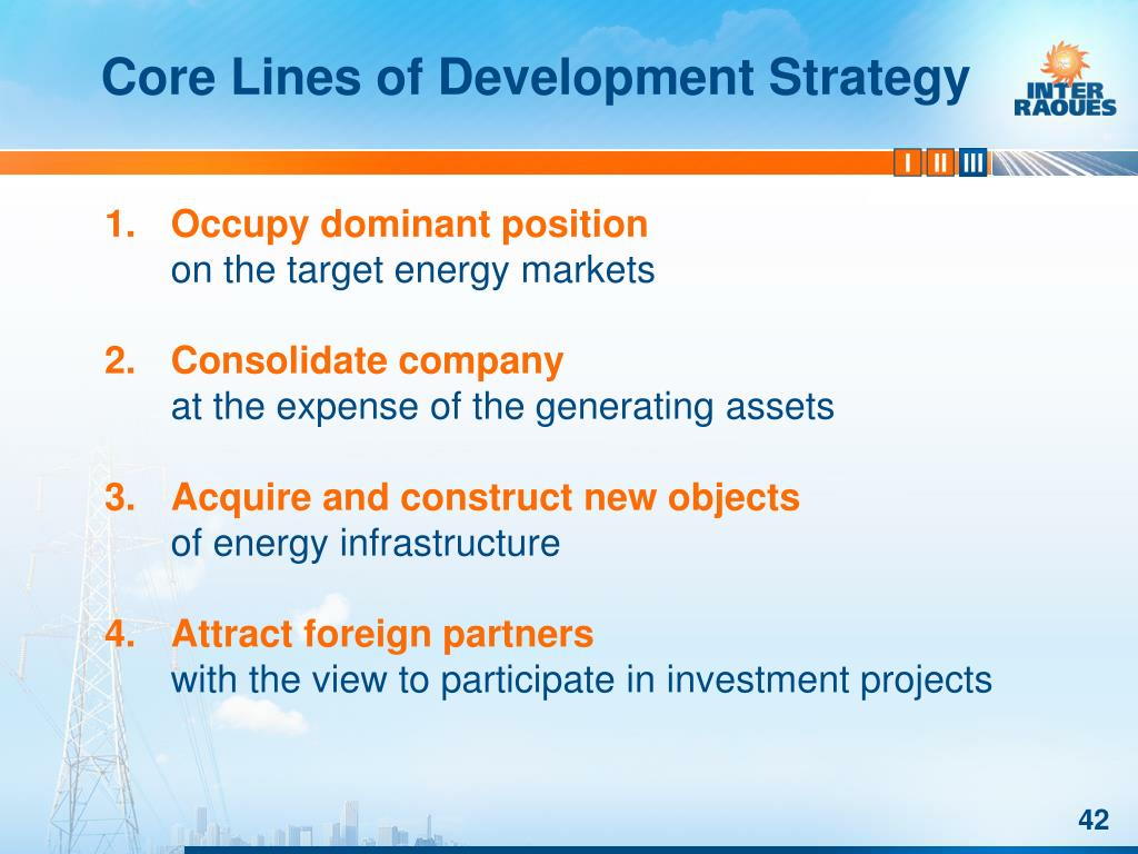Core Lines of Development Strategy