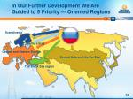 in our further development we are guided to 5 priority oriented regions