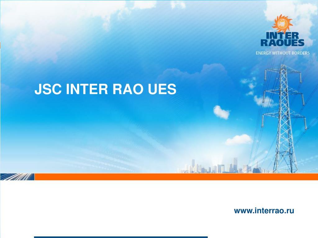 JSC INTER RAO UES